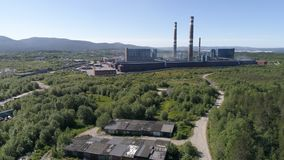 Aluminum Metallurgical Plant. Aerial View royalty free stock images