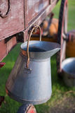 Aluminum milk tank in farm Stock Images
