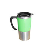 Aluminum mug isolated on white Stock Images