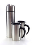 Aluminum mug water bottle Royalty Free Stock Photography