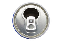 Aluminum packaging. Of the bank isolated Stock Image