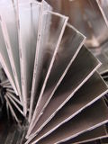 Aluminum parts. Stack of bent aluminum parts processed on cnc Stock Image