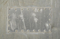 Aluminum patch Stock Images