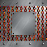 aluminum perforated ramlavametall Royaltyfri Foto