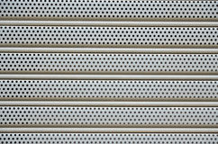 Aluminum perforated. Aluminum perforated texture for architecture Stock Image