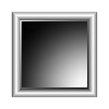 Aluminum photo frame Royalty Free Stock Image