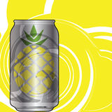 Aluminum Pineapple Soda packaging Royalty Free Stock Photos
