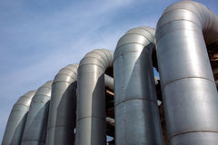 The aluminum pipeline. Royalty Free Stock Photos