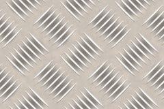 Aluminum plate. Close-up aluminium diamond pattern plate stock image