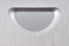 Aluminum plate. Royalty Free Stock Photo