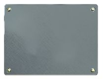 Aluminum plate Royalty Free Stock Images