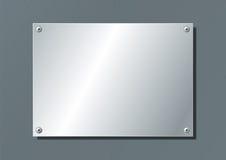 Aluminum plate royalty free illustration