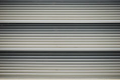 Aluminum Plates. A photo taken on the exterior of an aluminum pull-down gate of a utility room royalty free stock photography