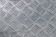 Aluminum plates. A photo taken on a stamped aluminum plate Stock Image