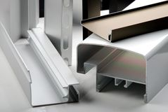 aluminum profil Arkivfoton