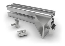 Aluminum profile accessories Royalty Free Stock Image