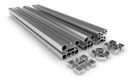 Aluminum profile. On white Stock Photography