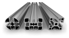 Aluminum profile Royalty Free Stock Photos