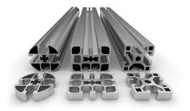 Aluminum profile. On white Royalty Free Stock Images