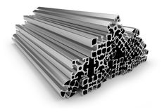 Aluminum profile Stock Images
