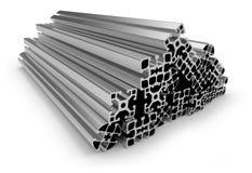 Aluminum profile. On white Stock Images