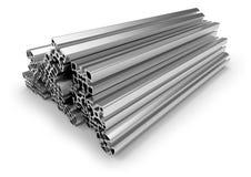 Aluminum profile. On white Stock Image