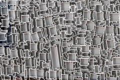 Aluminum profiles Stock Image