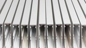 Aluminum profiles, background stock photo