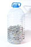 Aluminum pull tabs in bottle Royalty Free Stock Photos