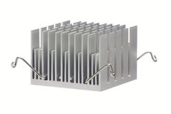Aluminum radiator Isolated Stock Photography