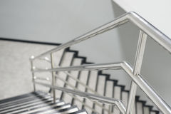 Aluminum railing. The Aluminum railing handle of staircase Royalty Free Stock Photos