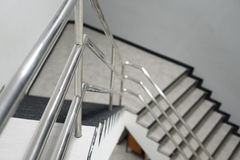 Aluminum railing. The Aluminum railing handle of staircase Stock Images
