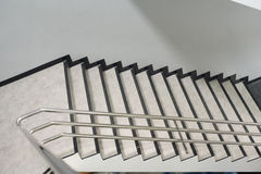 Aluminum railing. The Aluminum railing handle of staircase Stock Photography