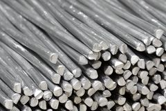 Aluminum raw sticks Stock Photo