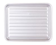 Aluminum rectangular plate Stock Images