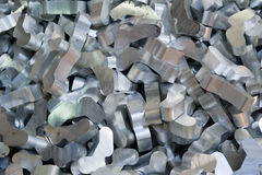 Aluminum recycling Stock Image