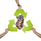 Aluminum recycling Stock Photo