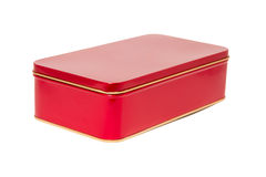 Aluminum red box Stock Photography