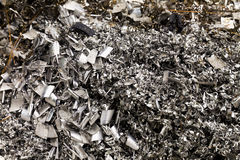 aluminum rester royaltyfri fotografi