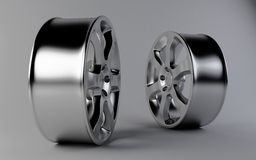 Aluminum rims Royalty Free Stock Image