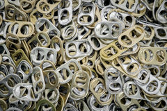 Aluminum ring pulls. Stock Photo