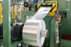Aluminum roll. For press molding Stock Images