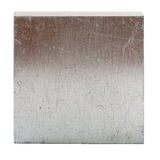 Aluminum rolled square with brown reflection. Stock Photos