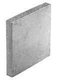 Aluminum rolled square. Square 50x50mm, cutted from rolled sheet with CNC laser - 6 mm thick Royalty Free Stock Photo