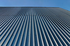 Aluminum roof. Royalty Free Stock Images