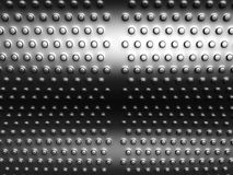 Aluminum round dots pattern background. 3d illustration Stock Photography