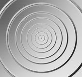 Aluminum round pattern background Stock Image
