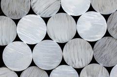 Aluminum round rod Stock Images