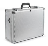Aluminum safety briefcase Stock Images