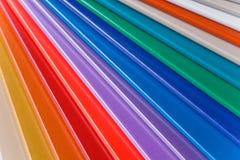 Aluminum samples Royalty Free Stock Image